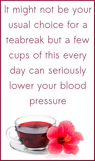 hibiscus tea can lower your blood pressure