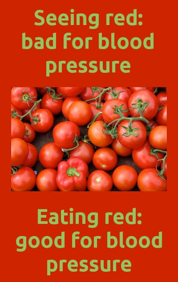 red food good for blood pressure