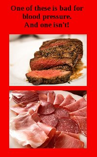 is red meat bad for blood pressure