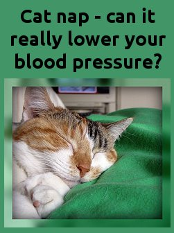 how a nap can lower your blood pressure
