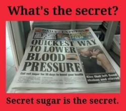 sugar and high blood pressure