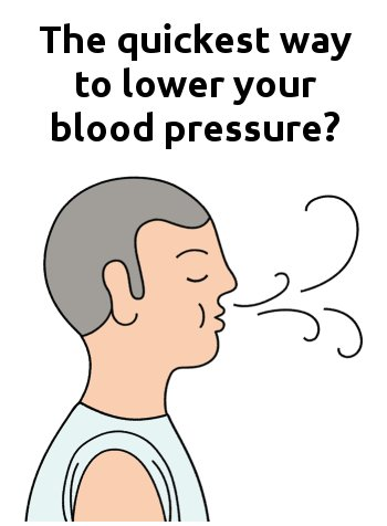 quickest way to lower blood pressure